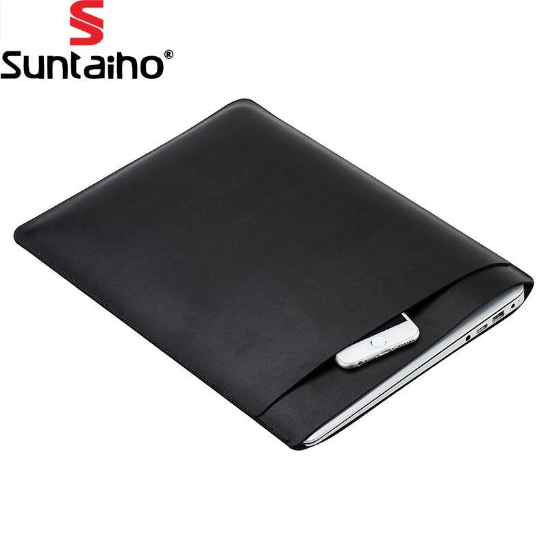 Tragbare PU Leder Für MacBook Air Pro Retina 11 12 13 15 zoll Laptop Tasche Notebook-tasche Tragetasche Für Macbook Tasche