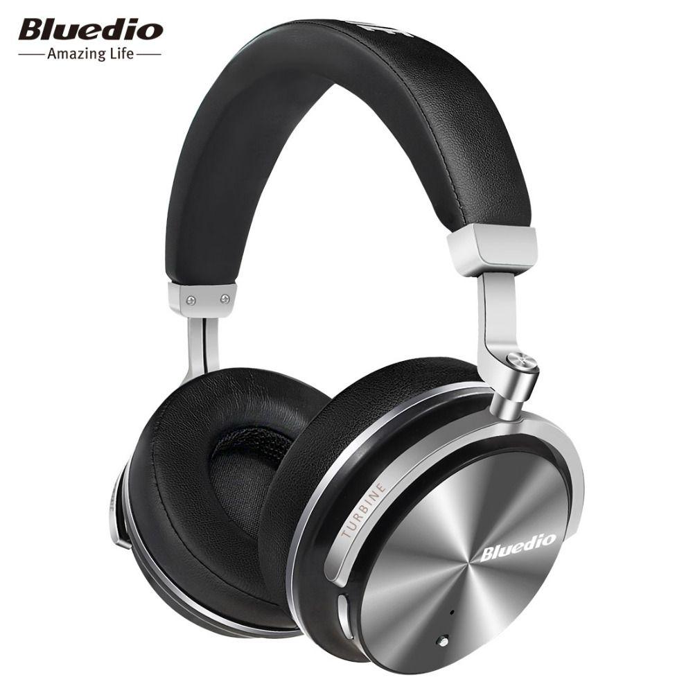 Bluedio T4S Activo de Cancelación de Ruido Auriculares Inalámbricos Bluetooth Auricular inalámbrico con Micrófono