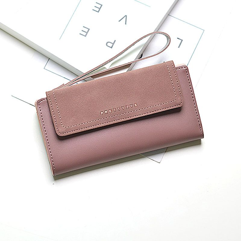 New Arrival Simple Women Day Clutches Vintage Patchwork Female Wallet Multifunctional Hasp Purse Trifold Wallet Phone Case