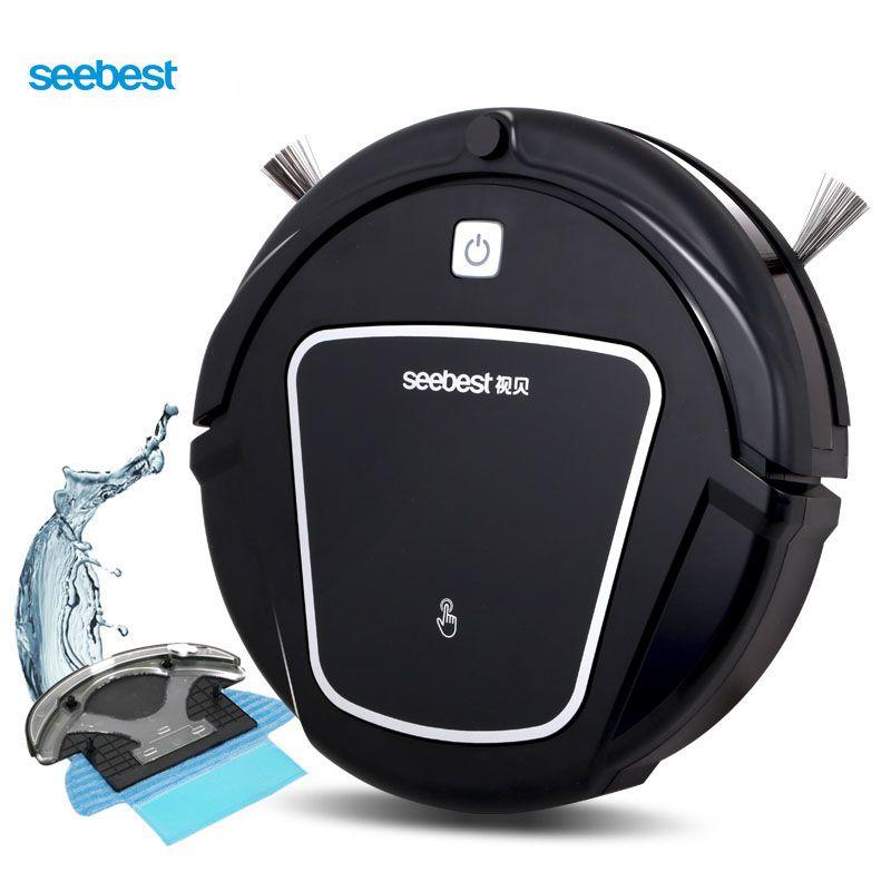 Seebest D730 MOMO 2.0 Robot aspirateur avec fonction de nettoyage humide/sec, calendrier de temps d'aspirateur Robot propre, entrepôt russe