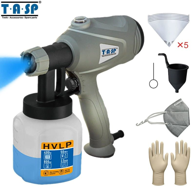 TASP MESG400M 220V 400W Electric Spray Gun HVLP Paint Sprayer For Painting with Adjustable <font><b>Flow</b></font> Control and 3m Cable