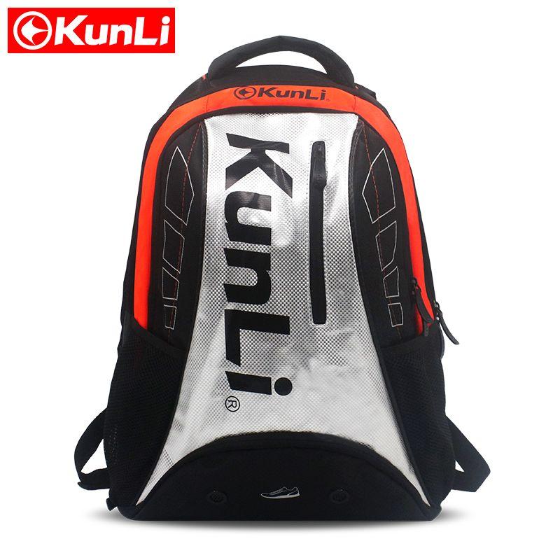 2017 neueste KUNLI Tennis Schläger Tasche Große Kapazität Für 35L Badminton Tasche Sport Raquetas De Tenis Rucksack Outdoor prahlerei tasche