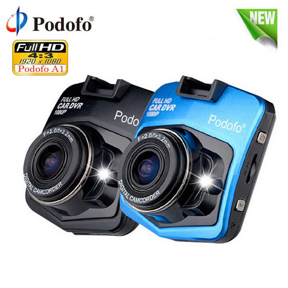 Podofo A1 Car DVR Dashcam Full HD 1080P Video Recorder Registrator Night Vision G-Sensor Car Camcorder Mini DVRs Dash Cam Camera