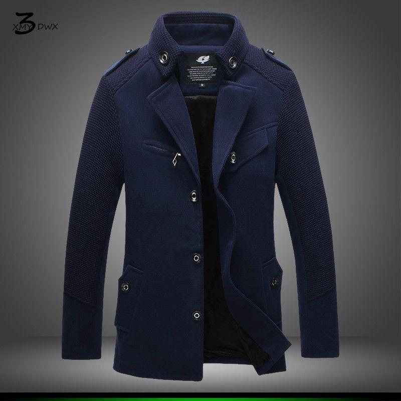 XMY3DWX verdickung von modischen männlichen winter warme lange trenchcoat/Männlichen mode slim fit freizeit mantel/Große größe S-4XL