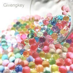 2000pcs Gun Pistol Water Bullets Crystal Soft Bullet Paintbal Toy Infrared Shooting Balls Soil Water Beads Jelly