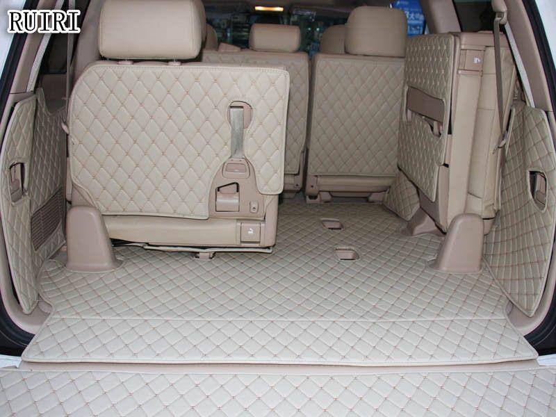 Vollen satz auto stamm matten + Hinten tür matte für Toyota Land Cruiser 200 2019-2007 7 sitze wasserdicht cargo-liner matten boot teppiche