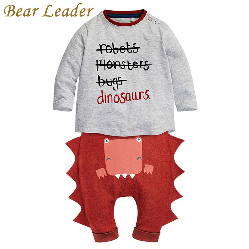 Bear Leader Baby Clothing Sets 2017 New Winter Baby Clothes Infant Clothes Letter T-shirt+Pants 2pcs Newbron Clothes