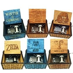 The Legend of Zelda Music box Anonymity Antique Carved wooden hand crank Musical boxes Christmas birthday gifts Caixa De Musica