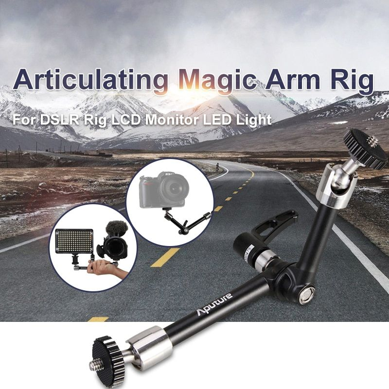 Aputure A10 10 inch Articulating Magic Arm Rig for DSLR Rig LCD Monitor LED Light Camera Accessories