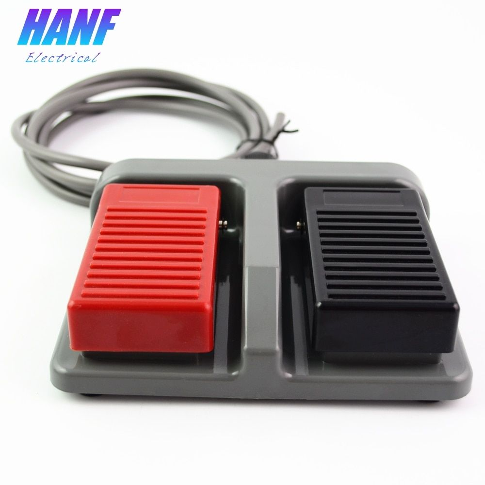 1pcs momentary plastic foot switch infinity double pedal duplex two-way tumbler 3A/220VAC