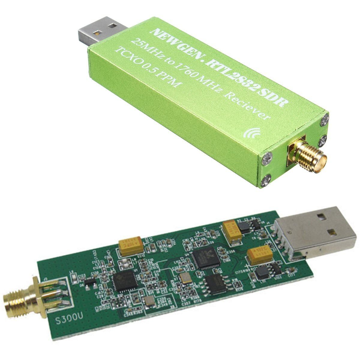 25MHZ to 1760MHZ RTL SDR Receiver Support AM/NFM/FM/DSB/USB/L RTL2382U Wireless Current Receiver New Generation RTL SDR Receiver