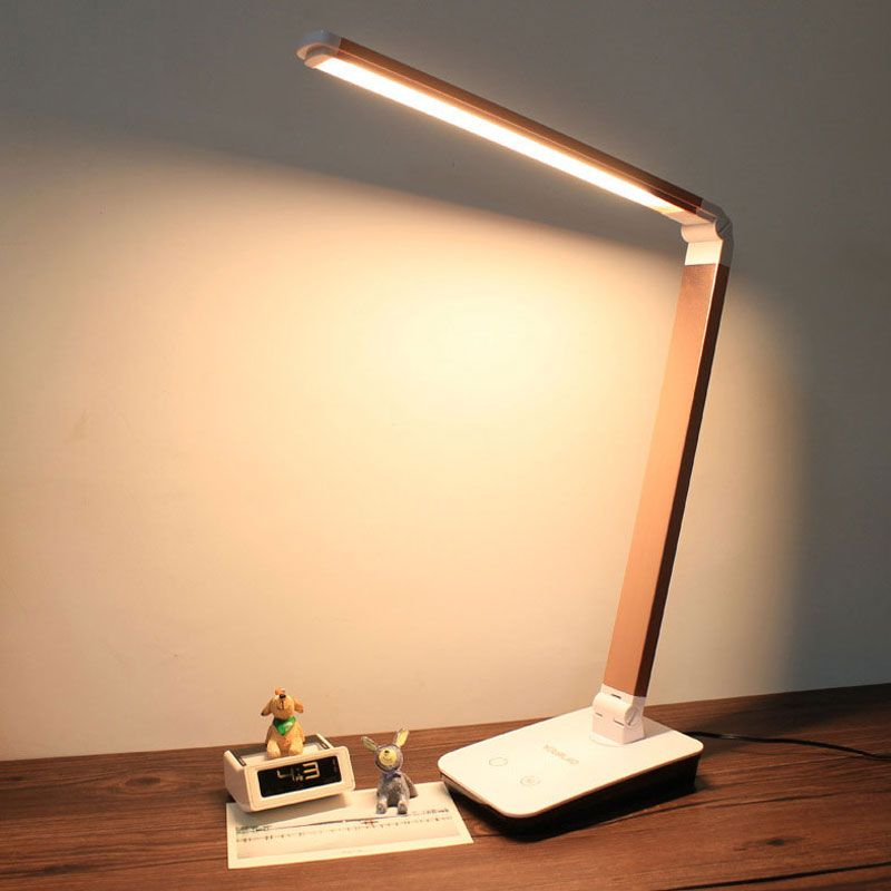 4 Level Touch Dimmer LED Desk Lamps Folding Table LED Lamba Portable Office Night Reading lampara lampe de table lamp 12W T2