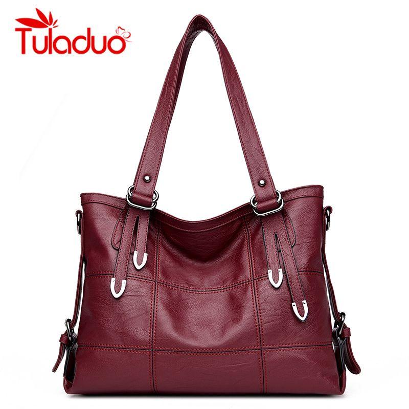 Women Shoulder Bag Casual Totes Bags Leather Big Ladies Handbag Female Soft Material Large Capacity Vintage Bags bolsa feminina