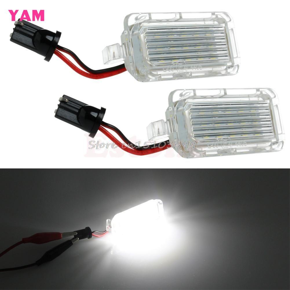 1 paar Lizenz Platte Licht 18 LED Lampe Für Ford Mondeo Fokus 5D C-MAX Canbus G08 Drop schiff