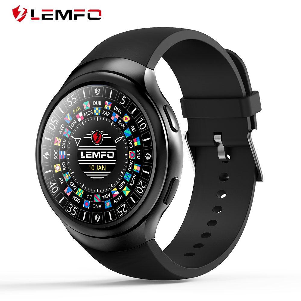 LEMFO LES2 Smart Montres Smartwatch Android 1 gb + 16 gb Montre Téléphone Moniteur de Fréquence Cardiaque GPS Wifi Bluetooth Montre-Bracelet
