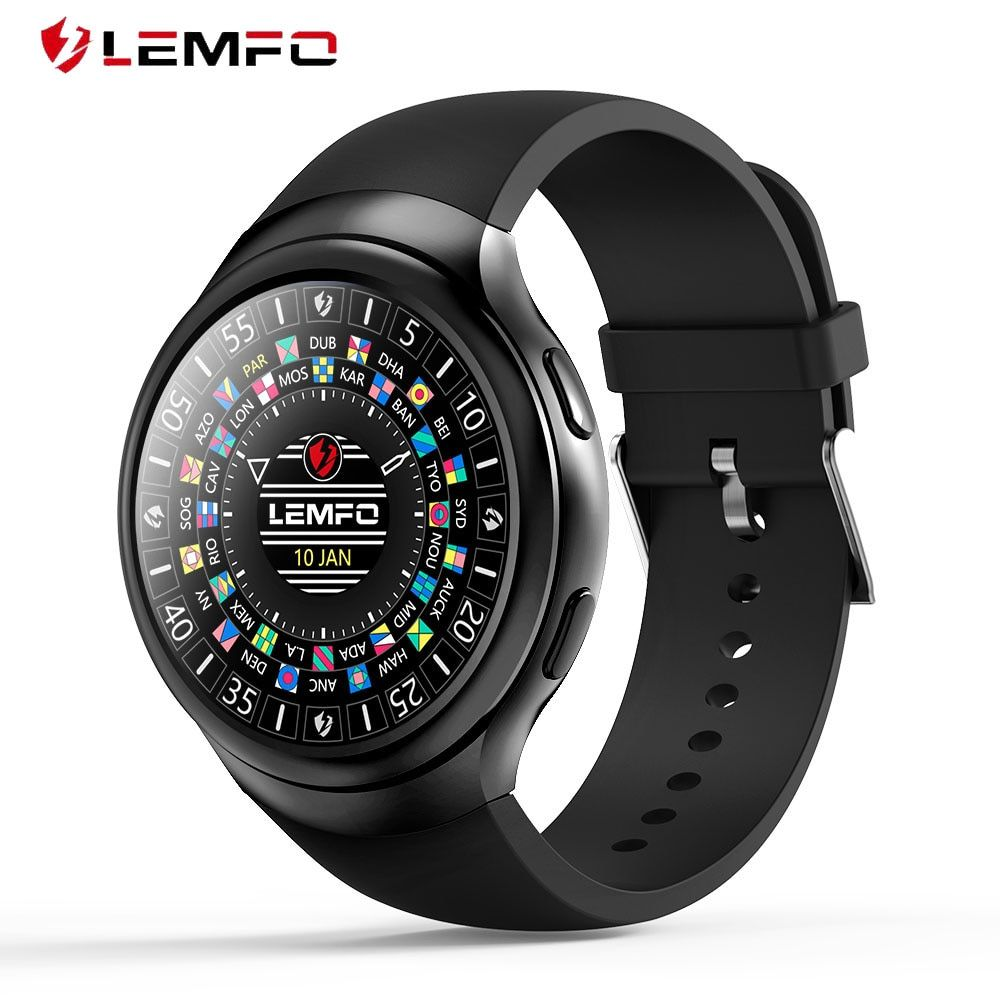 LEMFO LES2 Smart Watches Smartwatch Android 1GB + 16GB Watch <font><b>Phone</b></font> Heart Rate Monitor GPS Wifi Bluetooth Wristwatch