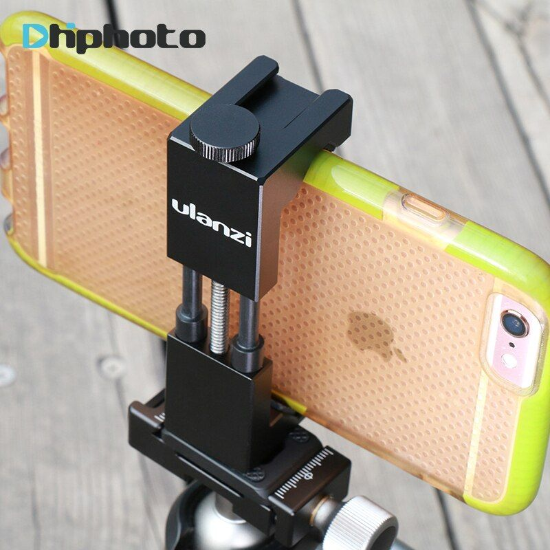 Ulanzi IRON MAN II En Aluminium Smartphone Trépied Mount Adapter avec froid Shoe Mount, Téléphone portable Trépied Clip Holder pour iPhone X OPPO