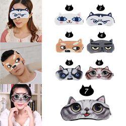 1 шт. портативная 3D симпатичная мягкая маска для сна для глаз для женщин и мужчин повязка для глаз крышка Расслабьтесь Путешествия сна повяз...