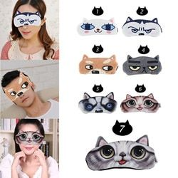 1 PC Portable 3D Tidur Lembut Wajah Mata Masker untuk Wanita & Pria Penutup Mata Penutup Mata Bersantai Bepergian Tidur mata Bantuan Mata Patch