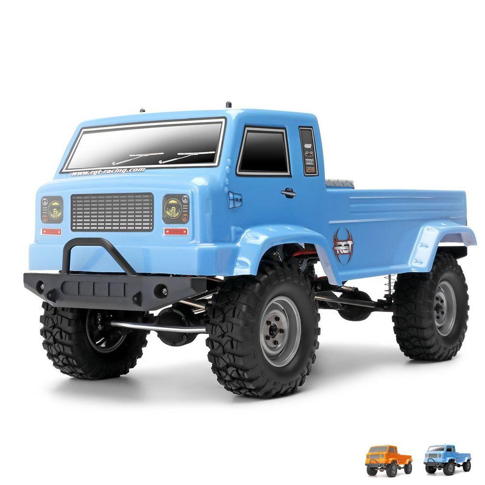 RGT 137300 1/10 Scale Rc Trucks, Electric 4wd Off-Road Rock Crawler Truck, Rock Cruiser RC-4 Climbing HSP BLUE, ORANGE