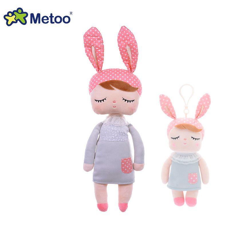 13 pouce en peluche mignon en peluche Angela lapin Fille Metoo poupée de Bande Dessinée animale Enfants jouets conception pour L'anniversaire De Noël Cadeau