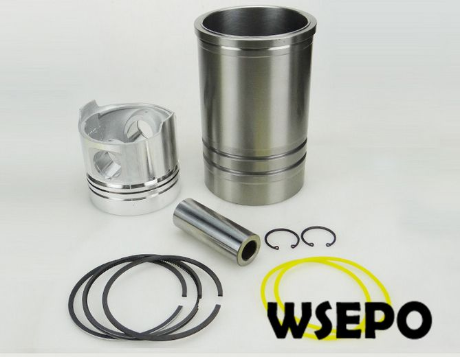 OEM Quality! Cylinder Sleeve/Liner+Piston Kit(06 pc kit) for ZS1115 4 Stroke Small Water Cooled Diesel Engine