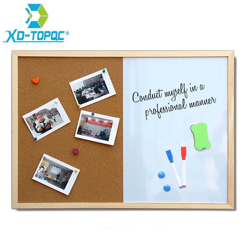 XINDI Message tableau en liège cadre en bois tableau blanc planches à dessin combinaison 30*40 cm tableau marqueur magnétique Bulletin livraison gratuite
