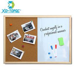 Xindi mensaje corcho madera Marcos Pizarras tableros de dibujo combinación 30*40 cm boletín marcador magnético envío libre