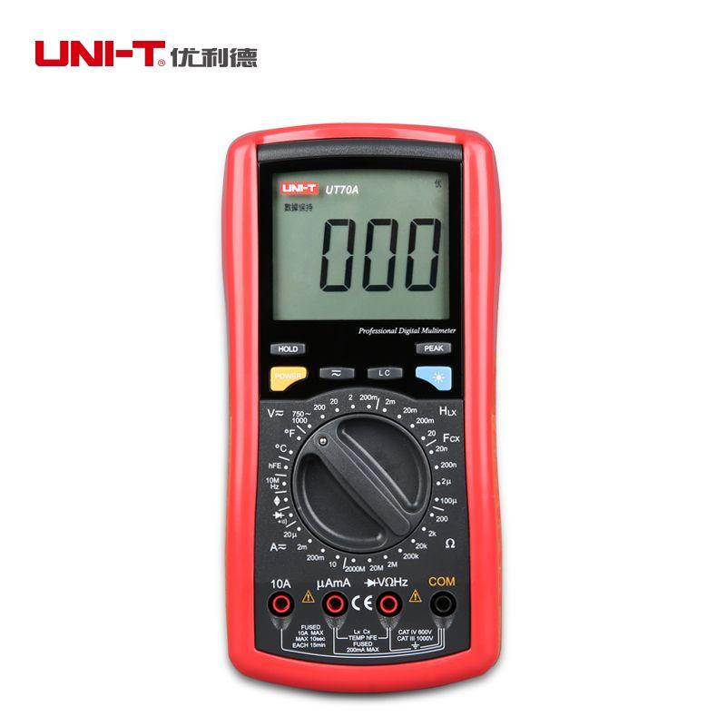 Original UNI-T UT70A digital multimeter frequency conductance logic test transistor multimeter temperature analog display