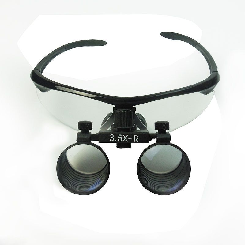 Dental Loupes 3.5X Binocular Surgical Loupes Lab Medical Magnifier WD 260-380MM Medical Magnifying Glass
