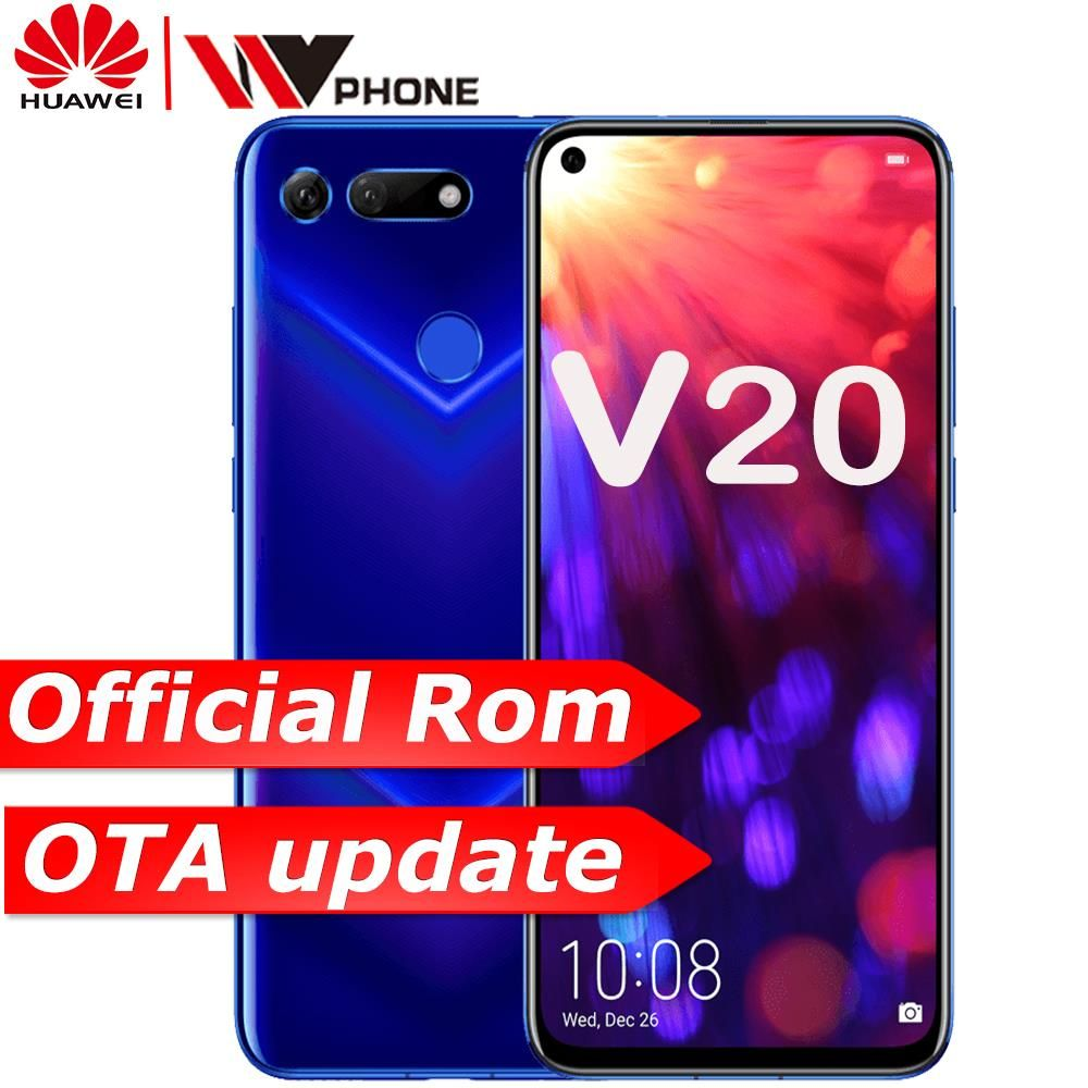 Honor v20 HUAWEI honor Ansicht 20 Link Turbo Smartphone honor V20 Android 9 Unterstützung NFC schnelle ladung Handy