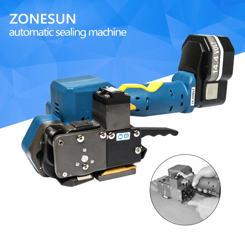 ZONESUN Z323 Portable Electric Strapping Tool Battery Powered PET/Plastic Friction Welding Hand Tools for 16-19MMPET&PP strap
