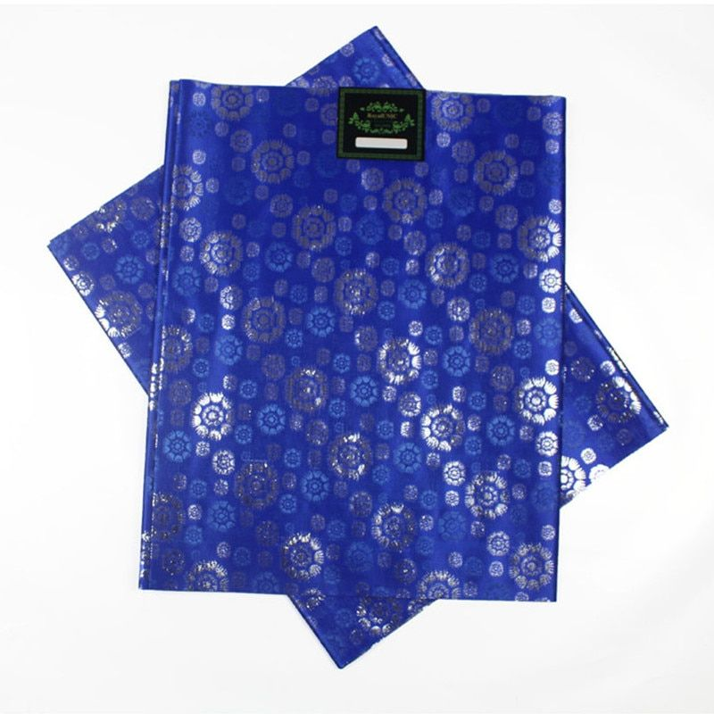SL-1510 Hot selling african headtie sego head tie Gele Wrapper 2pcs/set High Quality Many Colors Available ROYAL BLUE