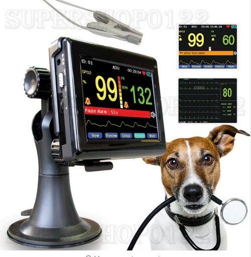 CONTEC PM60A Vet pulsoximeter, patientenmonitor + tierarzt Spo2 PR sonde, veterinär, tier Handheld, CE