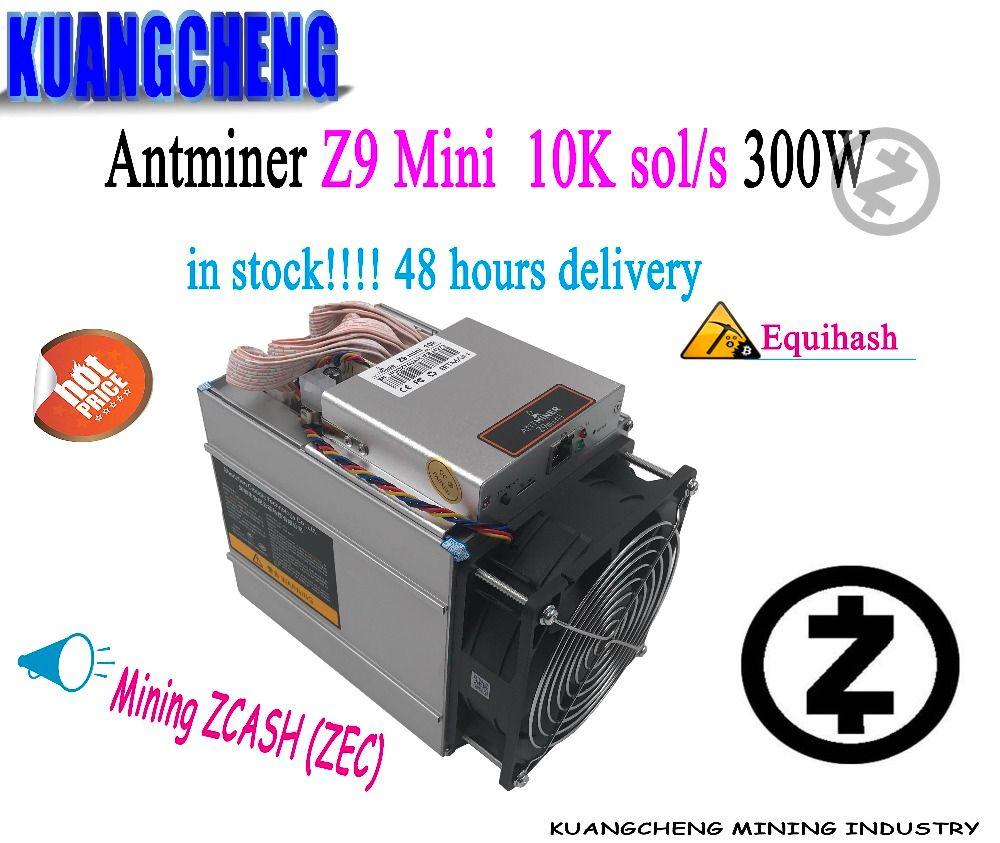 KUANGCHENG In lager Antminer Z9 mini 10 karat sol/s Z9 miner keine netzteil ASIC Equihash Bergbau maschine ZCASH kann übertaktet zu 14 K/S