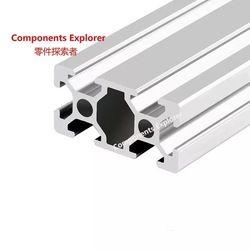 Beliebige Schneiden 1000mm 2040 Aluminium Extrusion Profil, Silbrig Farbe.