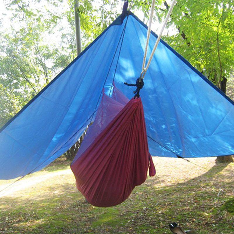 Ultra-léger extérieur Portable hamac auvent suspendu tente résistant à l'usure grand tapis multifonctionnel pliant résistant aux UV étanche