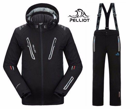 2018 KOSTENLOSER VERSAND Garantie Authentisch! Pelliot Männliche Ski Anzüge Jacke + Pants herren Wasserdicht, thermische Cottom Gefütterte Snowboard