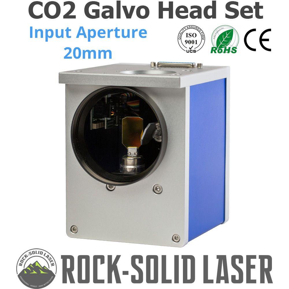 CO2 Galvo Scan Kopf Eingang Blende 20mm Galvanometer Scanner CO2 Laser Kennzeichnung Maschine Teile 1064nm JD2808 mit Netzteil set
