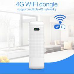 Membuka 4G Modem USB Stick 100 Mbps Router WiFi 4G 3G Wireless Mobile Hotspot WiFi dengan SIM slot Kartu Mendukung Hingga 10 Perangkat Wifi