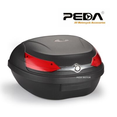 PEDA YM51L-818 Motorcycle Topcase Non-Broken PP Tail Box 59.5*44*32 cm Scooter Cargo Case Carrier Box Topcases Carrier Box