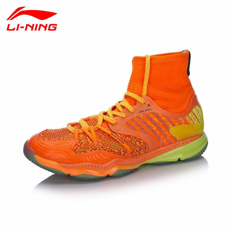 Top Quality Li-Ning Professional Badminton Shoes for Men 2017 New High Cut Cushion LiNing Sports Shoe Sneakers AYAM009 L747