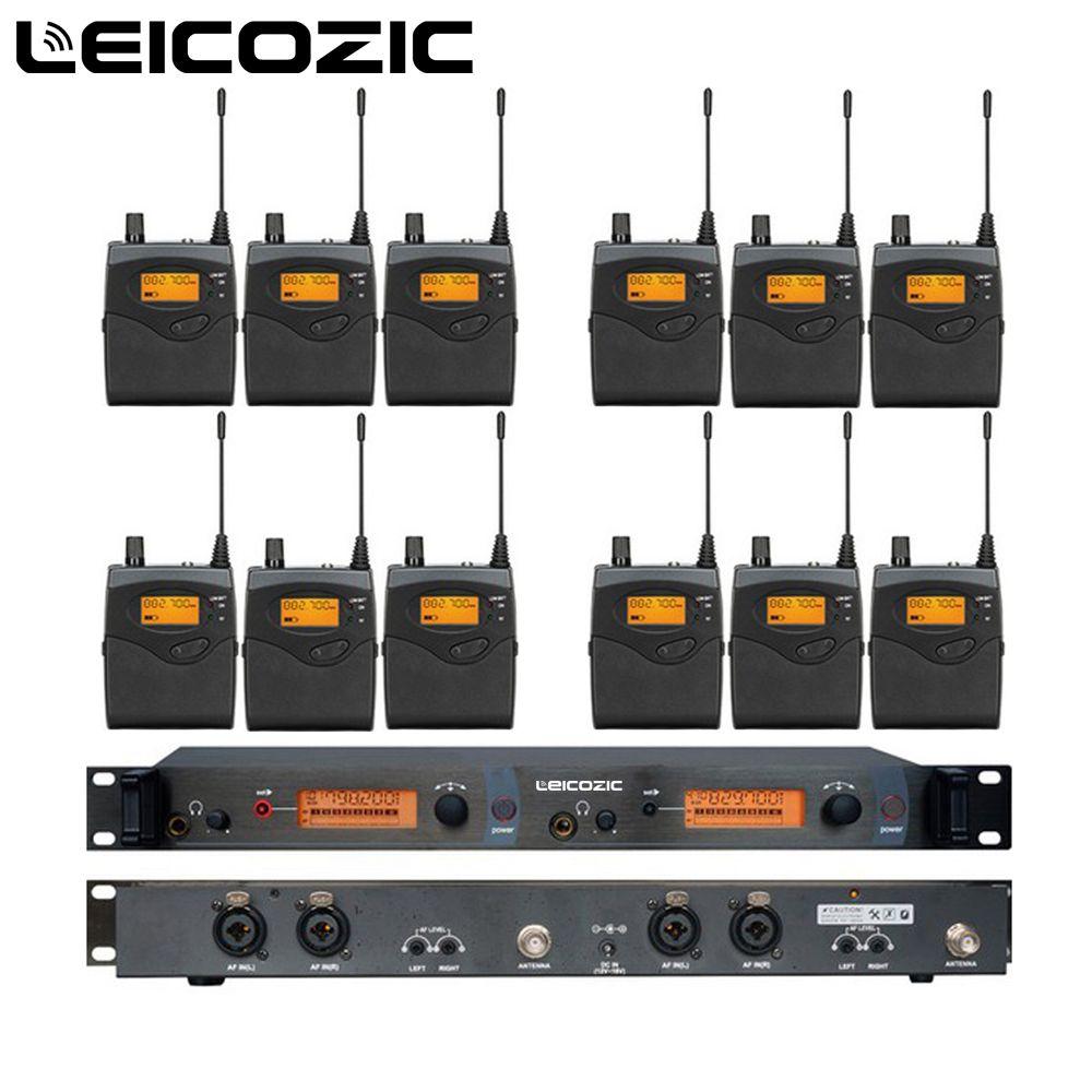 Leicozic 12 Empfänger 1 Sender SR2050 IEM in ohr wireless monitor system UHF Professionelle Bühne Wireless Monitor system neue