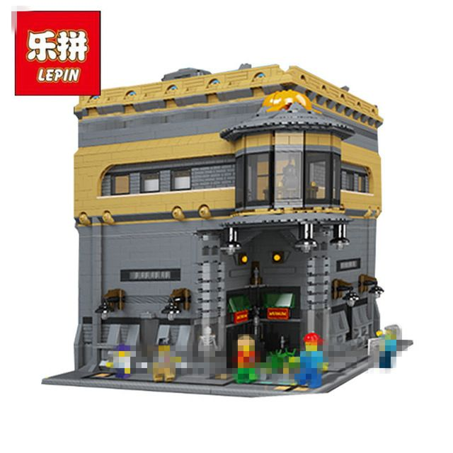 2017 New LEPIN 15015 5003pcs City The dinosaur museum Model Building Kits DIY Brick Toy Compatible Children day's Gift for girl