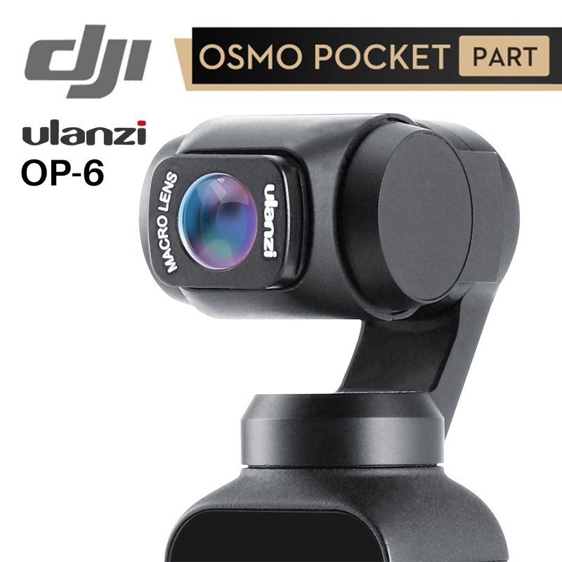 Ulanzi OP-5 OP-6 grand Angle Macro lentille pour Dji Osmo poche 10X HD 4K Macro lentille accessoires de cardan lentilles magnétiques