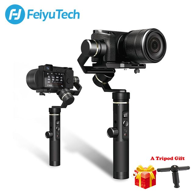 FeiyuTech Feiyu G6 Plus Splashproof Handheld Gimbal Stabilizer for Smartphone Gopro hero Mirrorless cameras sony as6000 black