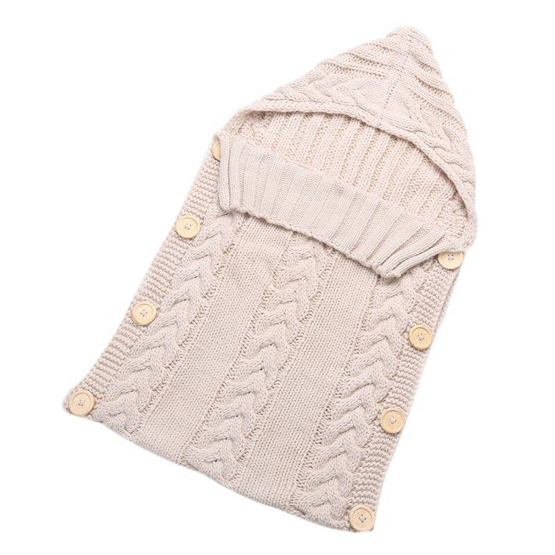 Envolver al Bebé recién nacido Swaddle Manta Niño de Los Cabritos de Lana de Tejer Una Manta de Bebé Swaddle Saco de dormir Cochecito Saco Plástico por 0-12 Meses