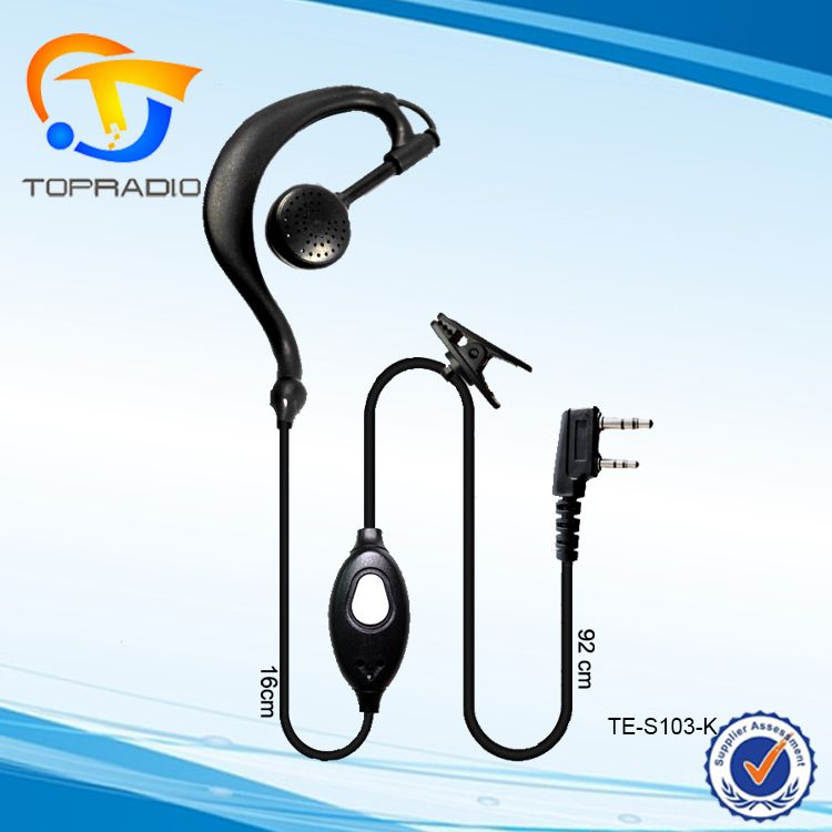 Earpiece for Radio 2 pin Headset Mic Earphone for HYT TH-F7 PX-777 UV-5R KPG55D NX-2 Ear Hook Walkie Talkie Earpiece for Radio
