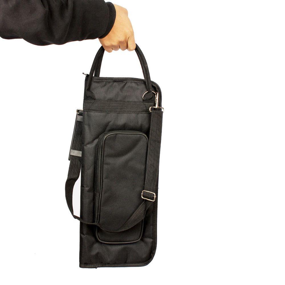 Sac de bâton de tambour en tissu Oxford noir 600D de haute qualité résistant à l'eau et durable avec poche à bandoulière