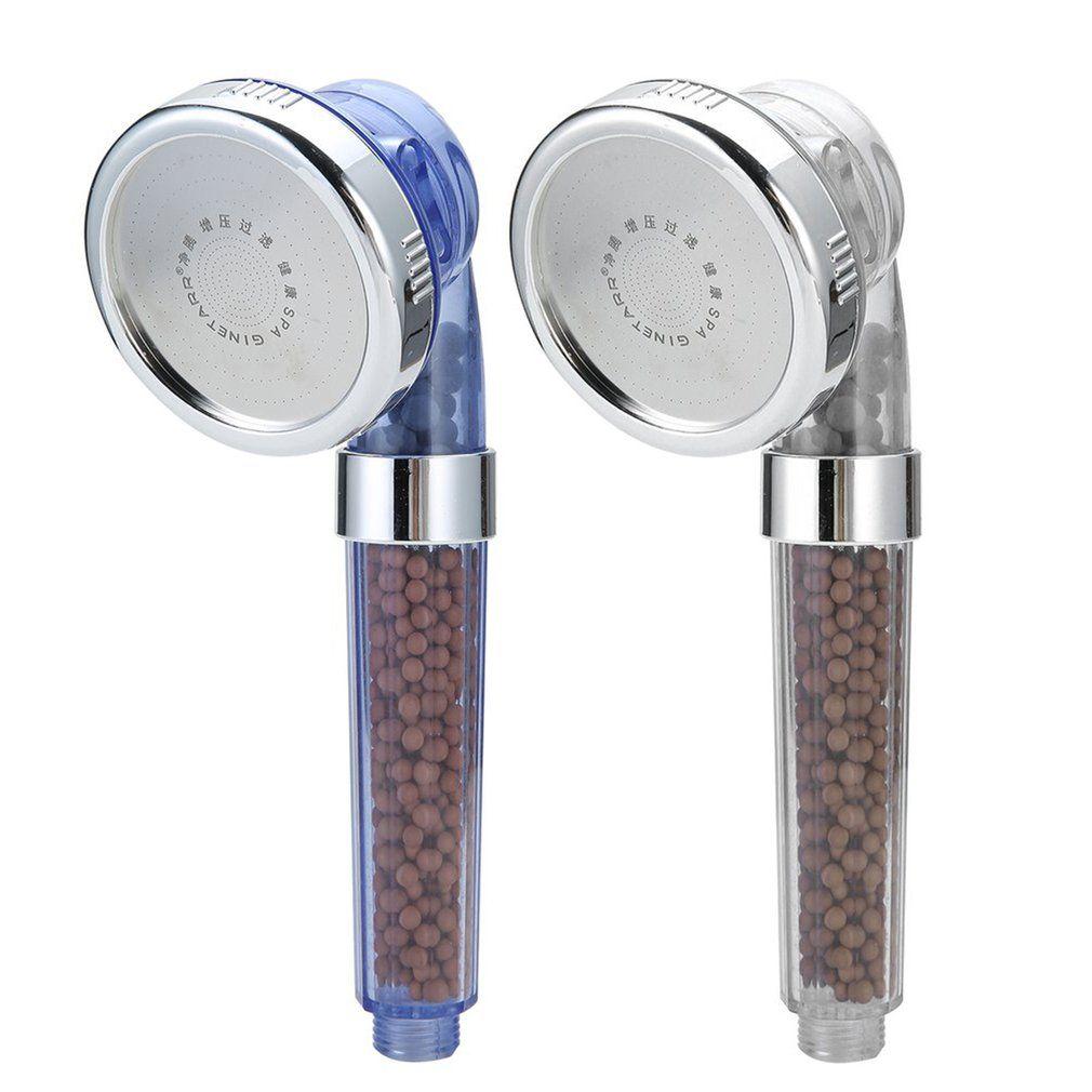 2018 tête de douche réglable filtrée par SPA d'ion négatif sain avec le tuyau de douche trois tête de douche négative de SPA de Lon de Mode de douche